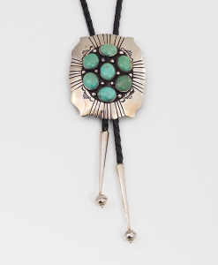 Navajo Artist MCB Turquoise Bolo