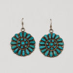Marci Stead Turquoise Cluster Earrings
