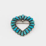 Zuni Artist Cluster Heart Pin and Pendant
