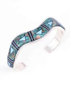 Calvin Begay Cultured Opal Cuff Bracelet