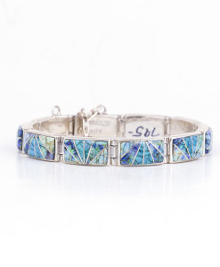Calvin Begay Cultured Opal Link Bracelet