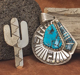 Native American Pendants and Native American Pins