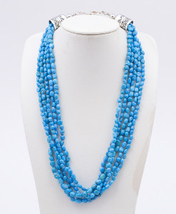 Sam Gray 5 Strand Turquoise Necklace