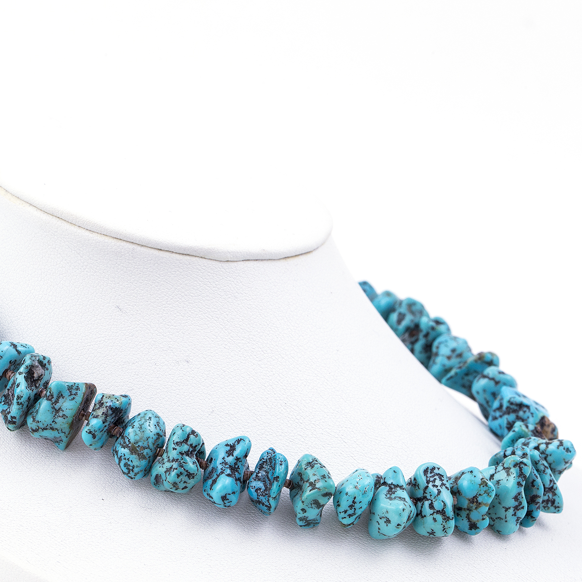 turquoise nugget choker necklace town jewels