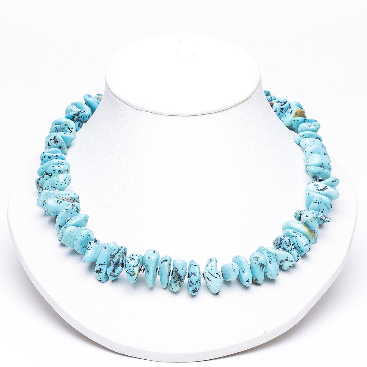 navajo artist turquoise nugget necklace town jewels