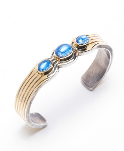 Ladies' Enhanced Blue Topaz Bracelet