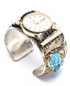 Navajo EJ Gold Filled Mens Watch
