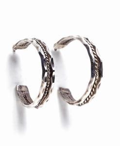 Vintage Navajo Edgy Silver Earrings