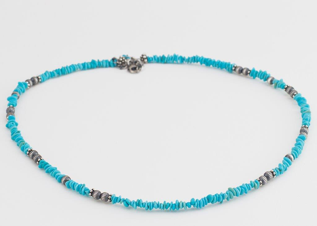 navajo turquoise bead necklace town jewels