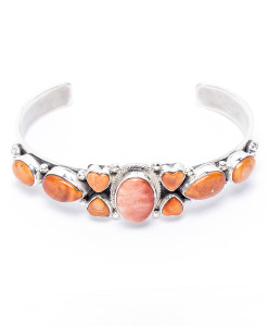 Navajo Roie Jaque Spiny Oyster Bracelet