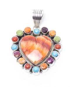 Navajo SH Rainbow Heart Pendant