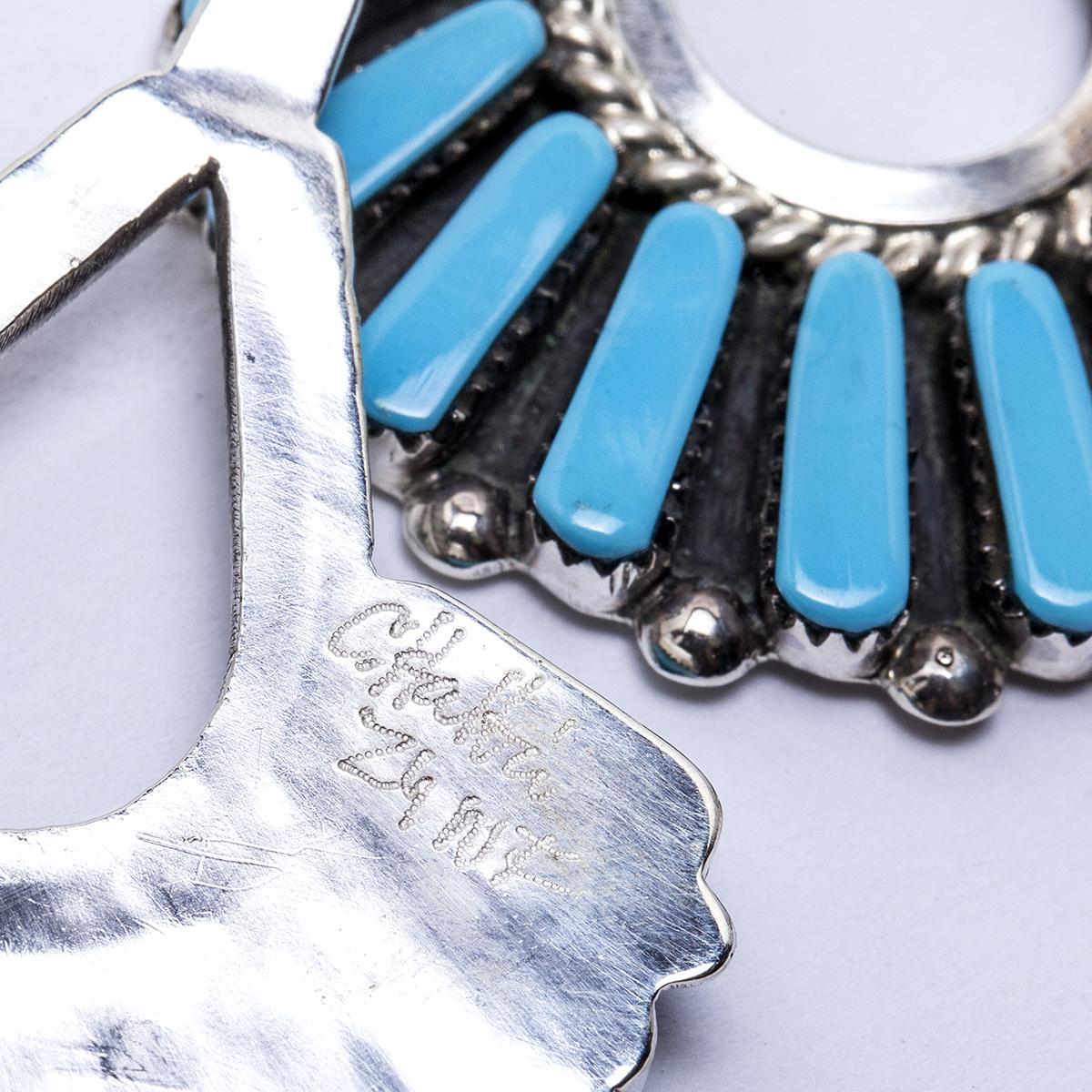 Soldzuni Turquoise Chandelier Earrings Old Town Jewels
