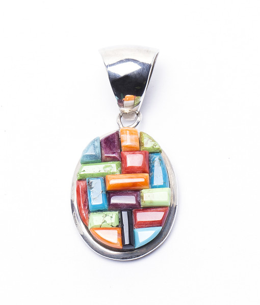 rainbow jewelry metallic pendant yellow necklace andrea product lyst normal fohrman in