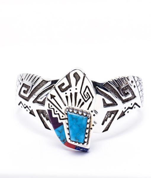 Navajo Sam Gray Geometric Bracelet