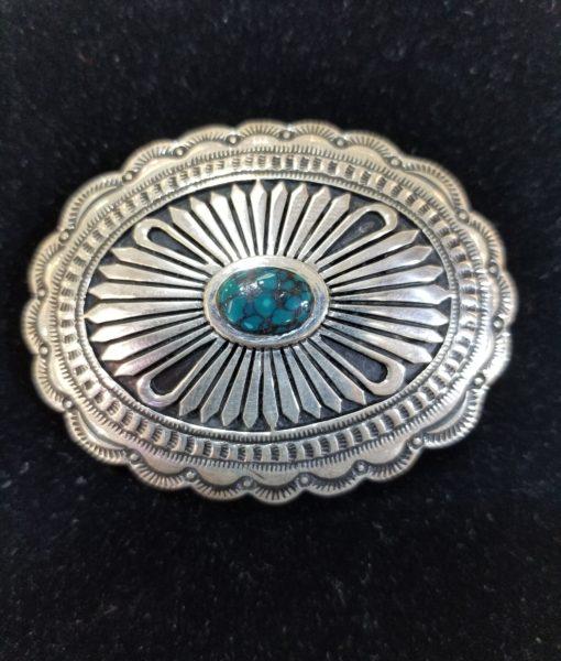 Navajo Henry Yazzie Turquoise Buckle