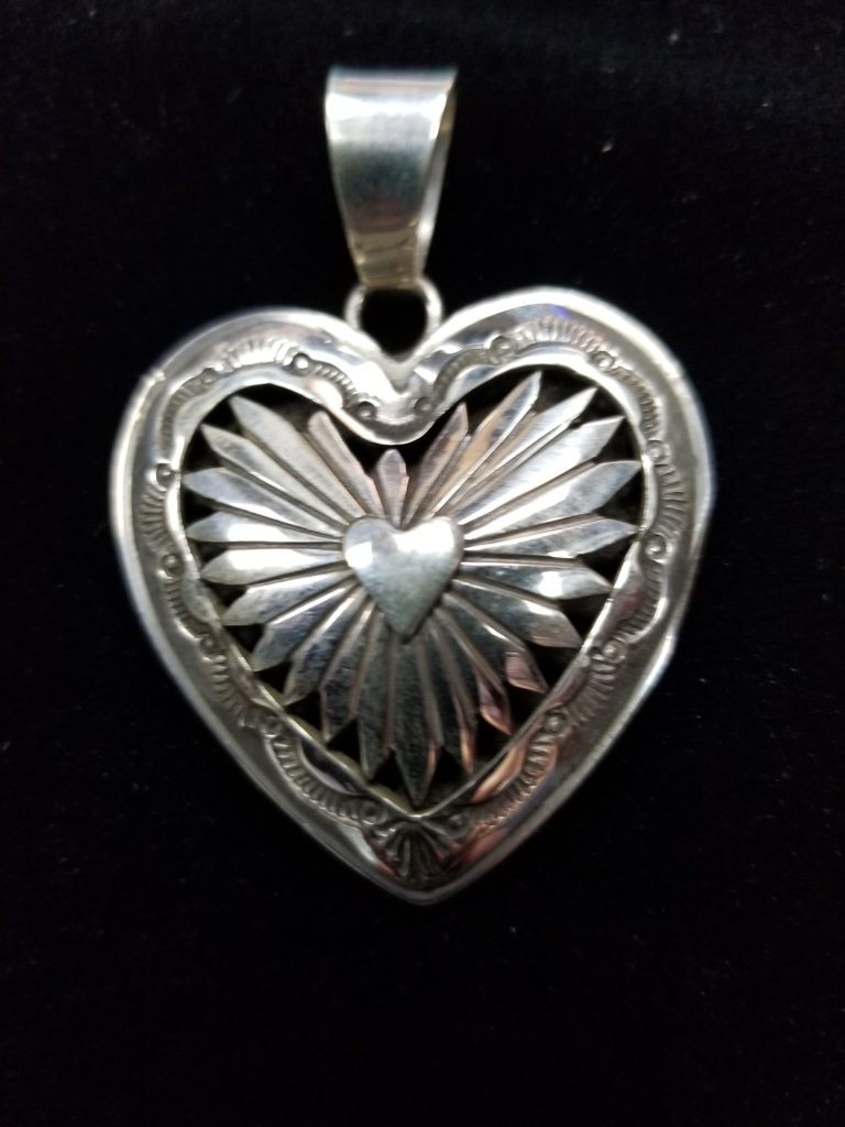 Navajo Dorothy Jeffries Heart Pendant