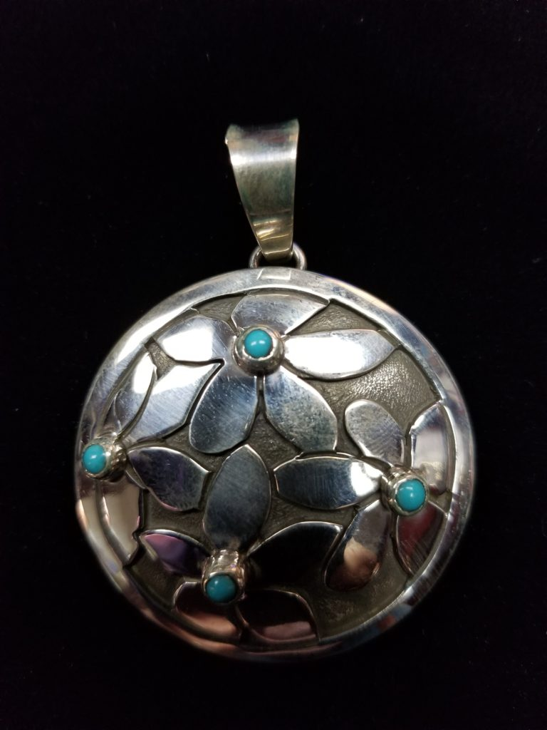 Navajo Dorothy Jeffries Turquoise Pendant