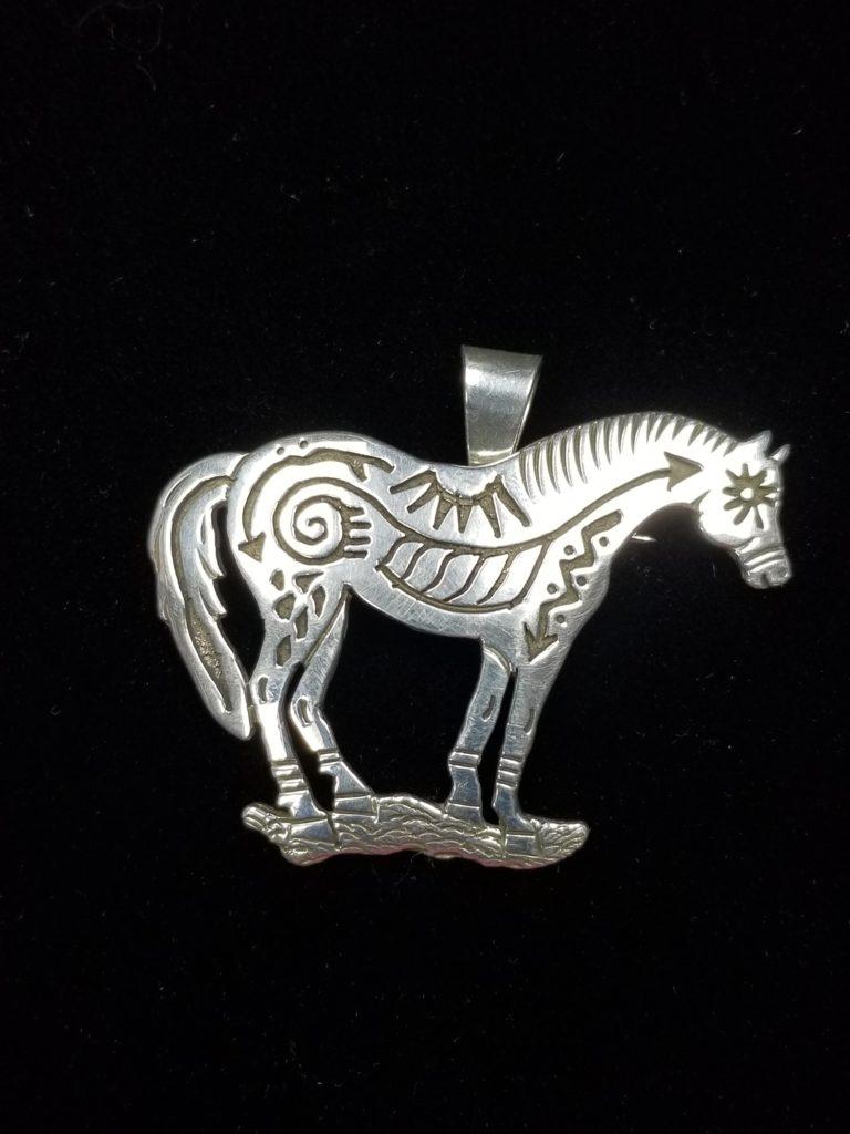 Navajo Sam Gray Horse Pendant