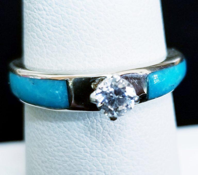 Navajo Henry Yazzie White Gold Ring