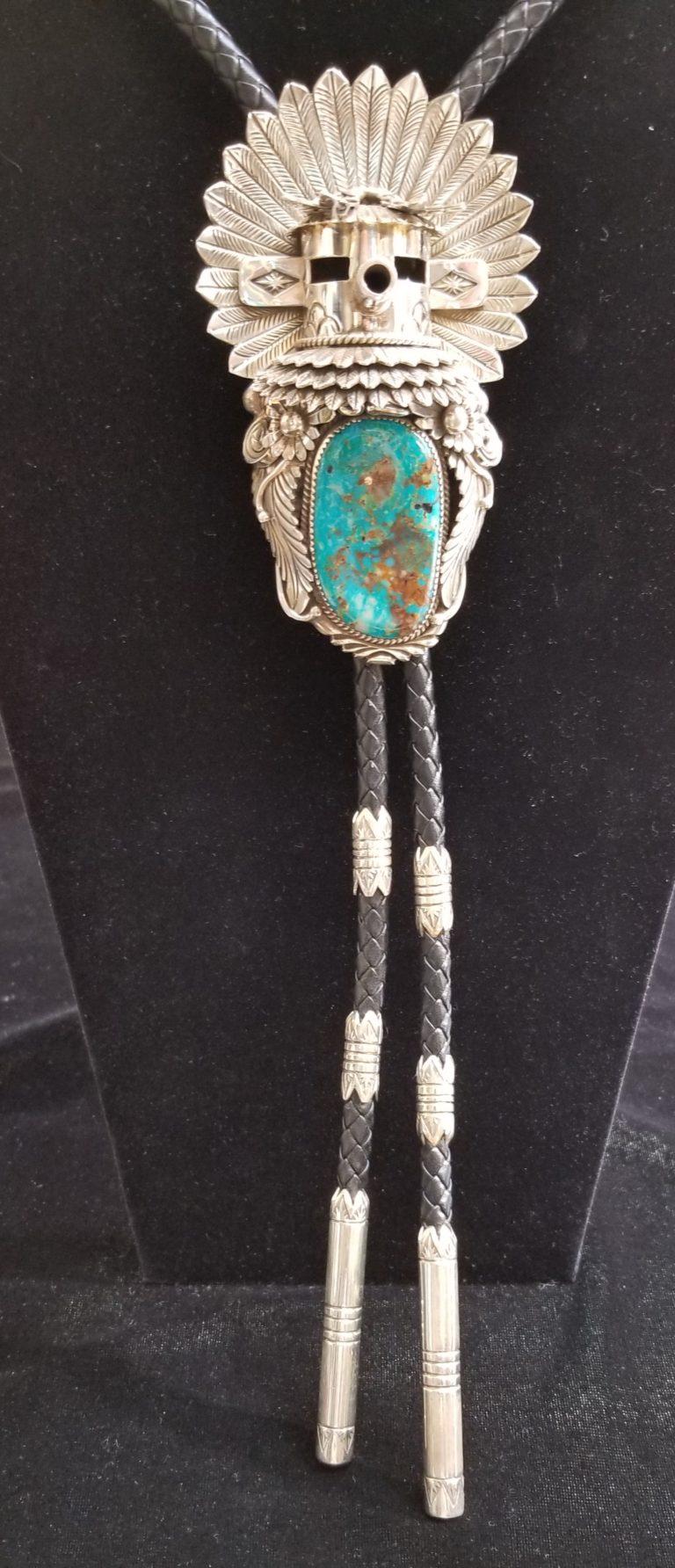 Navajo Katsina Bolo Tie by Henry Yazzie